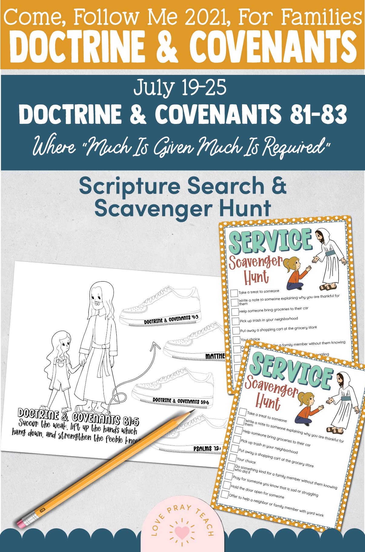 """Come, Follow Me—For Individuals and Families: Doctrine And Covenants 2021, July Week 4 Doctrine and Covenants 81-83: July 19-25, Where """"Much Is Given Much Is Required"""""""