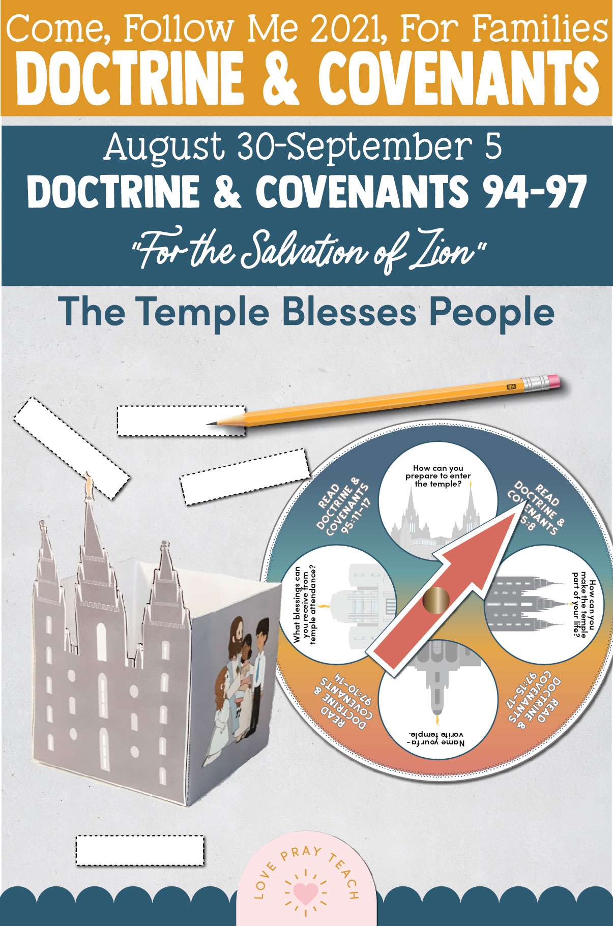 """Come, Follow Me—For Individuals and Families: Doctrine And Covenants 2021, September Week 1 Doctrine and Covenants 94-97: August 30-September 5,""""For the Salvation of Zion"""""""