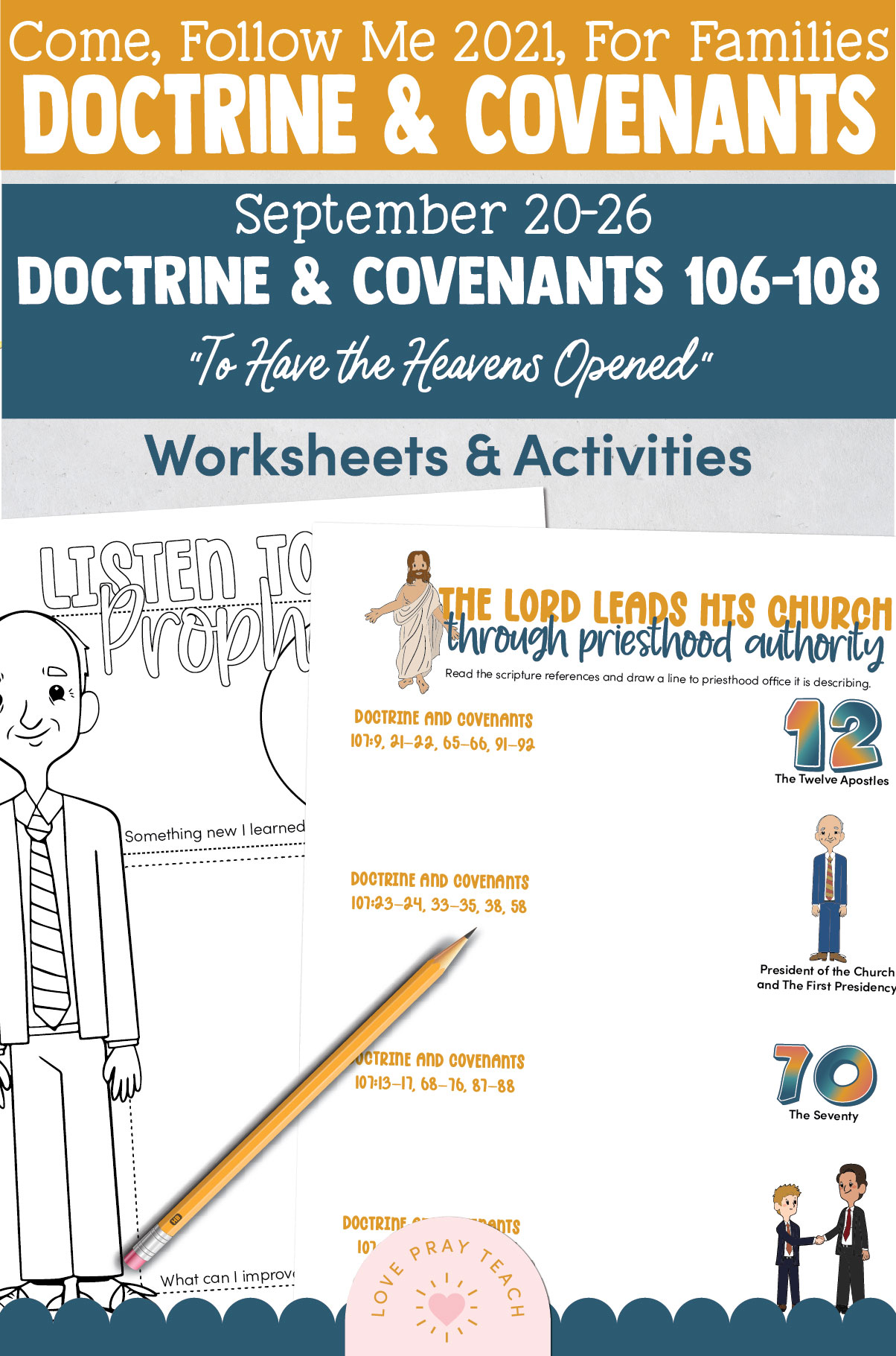 """Come, Follow Me—For Individuals and Families: Doctrine And Covenants 2021, September Week 4 Doctrine and Covenants 106-108: September 20-26, """"To Have the Heavens Opened"""""""